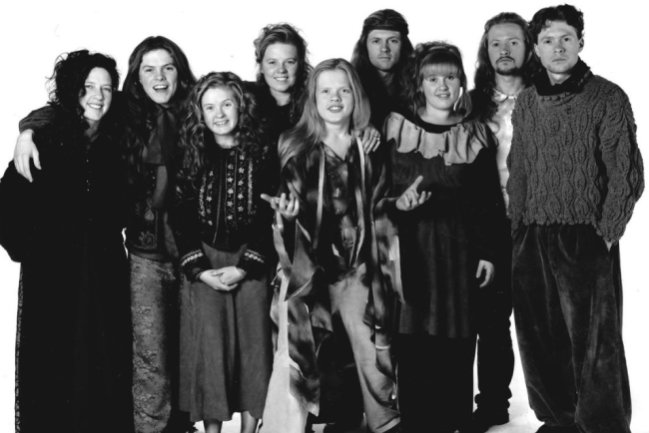 Die Kinder der Kelly Family (von links): Kathy, Paddy, Barby, Patricia, Angelo, Jimmy, Maite, Paul und Joey.