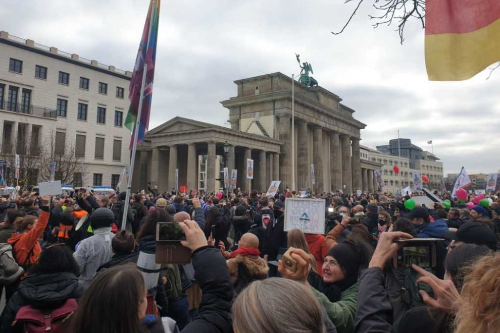Demonstration in Berlin. Foto: privat