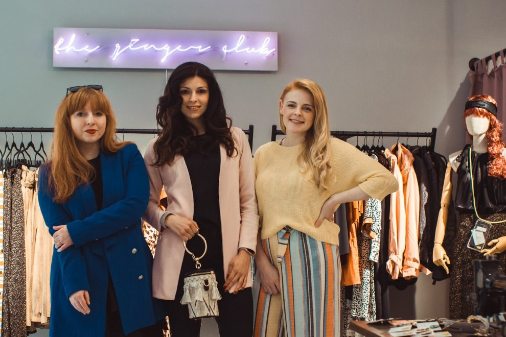 "Inhaber ""The Ginger Club"" Daniela Anis, Redakteurin Nicole Neubert und Bloggerin Lydia Dick."