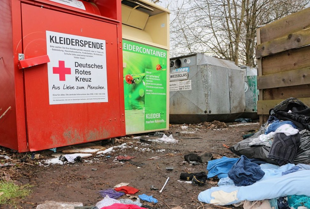 Die Abfallcontainer in Syrau. Foto: Simone Zeh